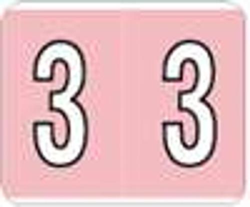 Kardex Numeric Label - PSF-138 Series (Rolls) - 3 - Pink