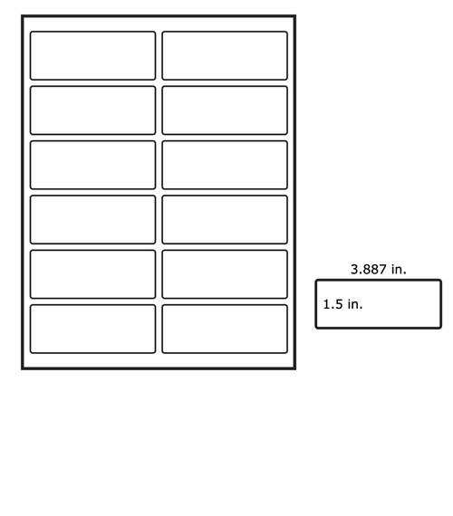 LabelsAnywhere - Laser 4 Inch Filing Labels