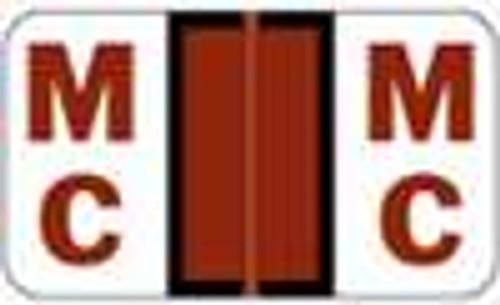 JETER Alphabetic Label - 5100 Series (Rolls) MC - Brown