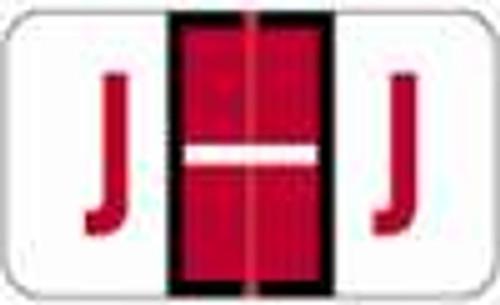 JETER Alphabetic Label - 5100 Series (Rolls) J - Red