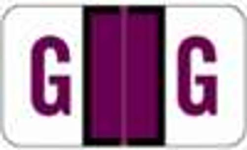 JETER Alphabetic Label - 5100 Series (Rolls) G - Purple