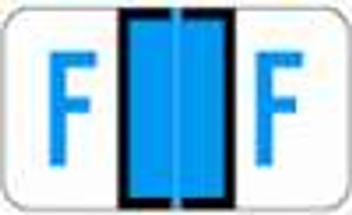 JETER Alphabetic Label - 5100 Series (Rolls) F - Blue