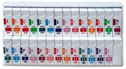 JETER - A-Z Alpha Set Tray, Rolls of 500 (each letter)