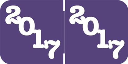 Jeter Yearband Label - JPYM Series (Rolls) - 2017 - Purple - Laminated