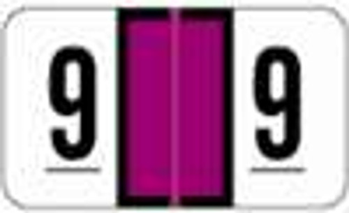 JETER Numeric Label - 2600 Series (Rolls) - 9 - Purple