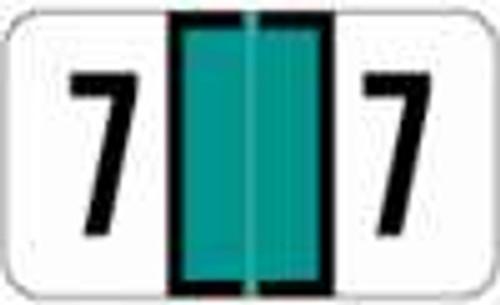 JETER Numeric Label - 2600 Series (Rolls) - 7 - Lt. Green
