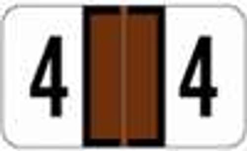 JETER Numeric Label - 2600 Series (Rolls) - 4 - Brown