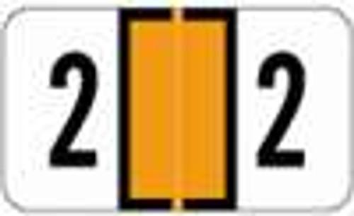 JETER Numeric Label - 2600 Series (Rolls) - 2 - Orange