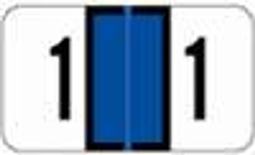 JETER Numeric Label - 2600 Series (Rolls) - 1 - Dk. Blue