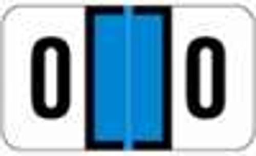 JETER Numeric Label - 2600 Series (Rolls) - 0 - Lt. Blue