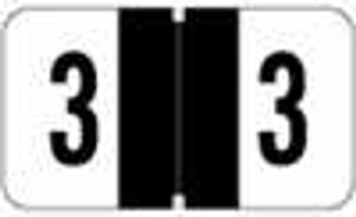 JETER Numeric Label - 2600 Series (Rolls) - 3 - Black