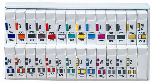 JETER Alphabetic Labels - 2800 Series (Rolls) A-Z Set with tray