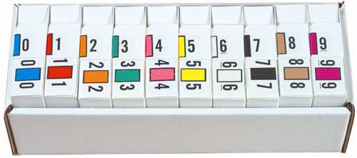 JETER Numeric Label - 0300 Series (Rolls) - 0-9 Set with tray