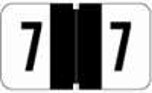JETER Numeric Label - 0300 Series (Rolls) - 7 - Black