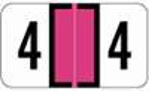 JETER Numeric Label - 0300 Series (Rolls) - 4 - Fl. Pink