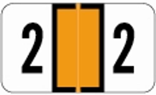 JETER Numeric Label - 0300 Series (Rolls) - 2 - Orange