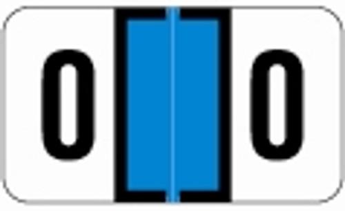 JETER Numeric Label - 0300 Series (Rolls) - 0 - Lt. Blue