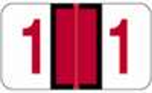 JETER Numeric Label - 6100 Series (Rolls) - 1 - Red