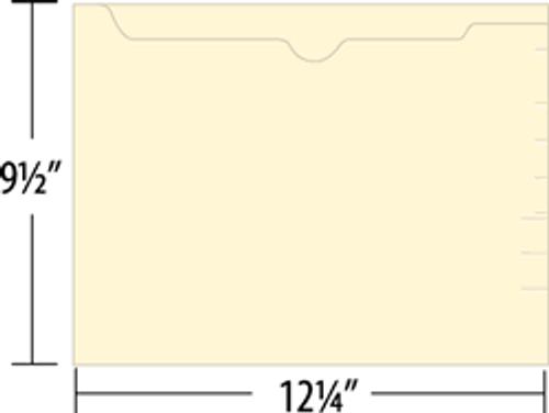 Jeter File Pocket - 14 Pt. Manila - Letter Size - Closed 3 Sides - Open Top - 100/Box