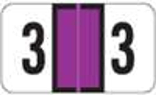 JETER Numeric Label - 7300 Series (Rolls) - 3 - Purple