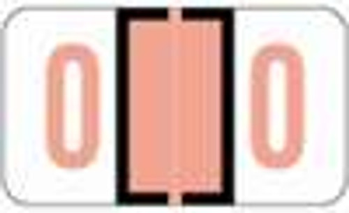 JETER Numeric Label - 6100 Series (Rolls) - 0 - Pink
