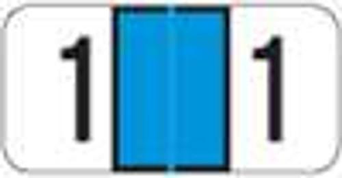 JETER Numeric Label - 3000 Series (Rolls) - 1 - Lt. Blue