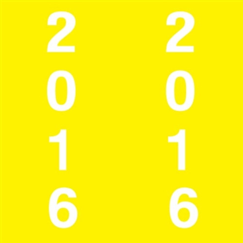 IFC Yearband Label (Rolls of 500) - 2016 - Yellow - IFYP Series - Unlaminated