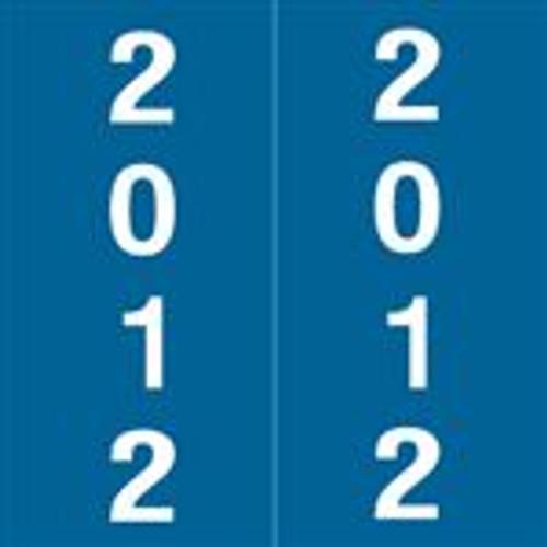 International Filing Yearband Label (Rolls) - 2012 - Dk. Blue - Laminated