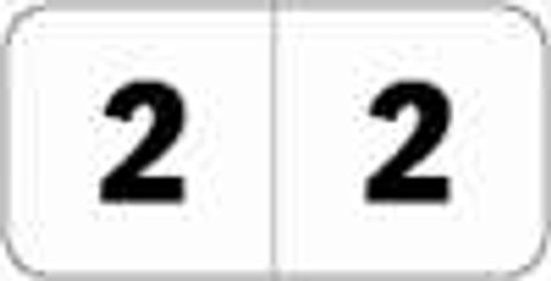 JETER Numeric Label - 4500 Series (Rolls) - 2 - Black/White