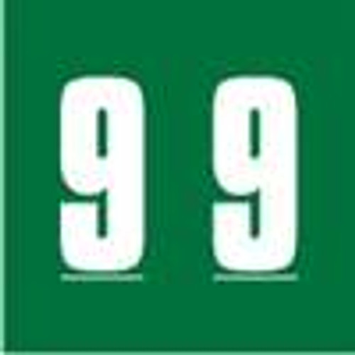 IFC Numeric Label - CL2100 Series (Rolls) - 9 - Green