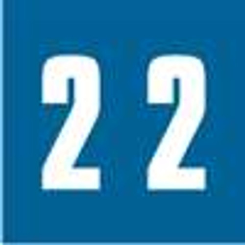 IFC Numeric Label - CL2100 Series (Rolls) - 2 - Blue