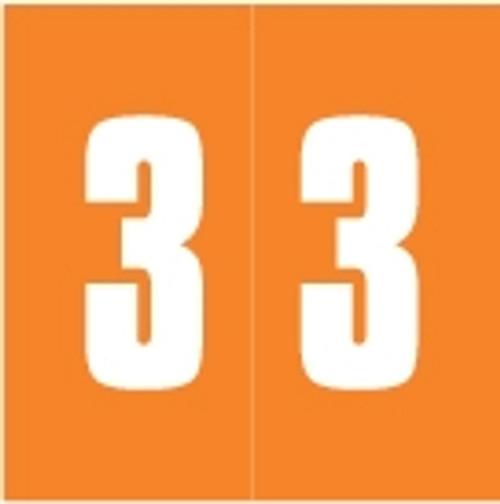IFC Numeric Labels - CL3100 System #1 Series (Rolls) - 3 - Orange