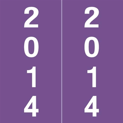IFC Yearband Label (Rolls of 500) - 2014 - Purple - IFYM Series - Laminated