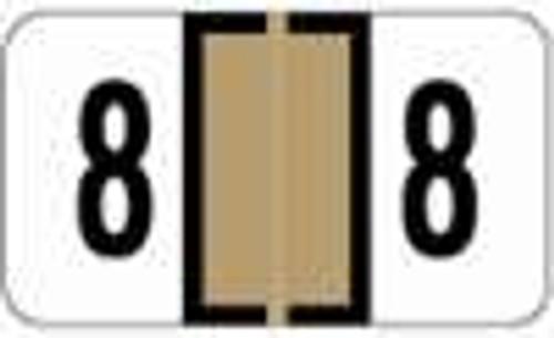 JETER Numeric Label - 0300 Series (Rolls) - 8 - Tan