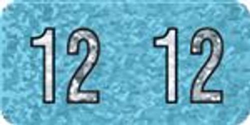 Holographic Yearband Label (Rolls) - 2012 - Aqua