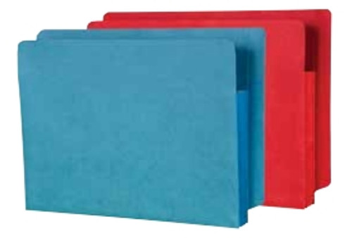 "All Colored folders - Letter Size - 3-1/2"" Accordion Expansion folder - Available in 12 Colors - 50/Carton"