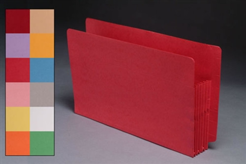 End Tab Colored Accordion Expansion File folders - Legal Size
