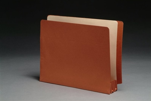 folder w/ Paper Gussets - Legal Size Accordion Expansion folder 9-1/2 x 12-1/2 x 1-3/4 - 50/Box
