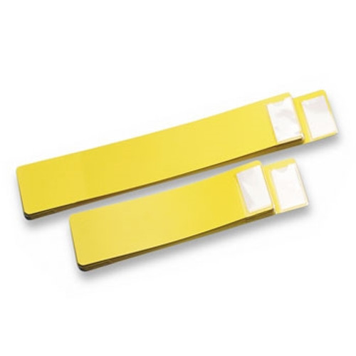 """Blank File Guide - X-Ray - 4"""" x 21"""" - Yellow - 25/Set"""