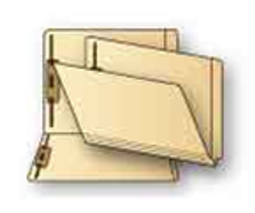 Jeter Compatible End Tab File Folder With Fasteners in Positions 1 and 3, 14 Pt. Manila, Letter Size, Reinforced Super End Tab - 50/Box