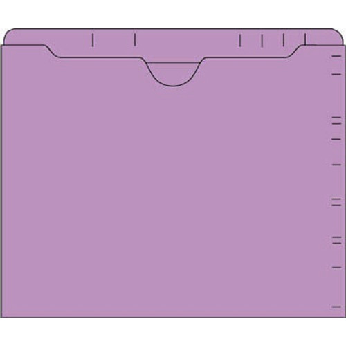 """Lateral Drawer File Jackets - Lavender - 9-1/2"""" H x 11-3/4"""" W - Double Ply Top Tab - 100/Box"""