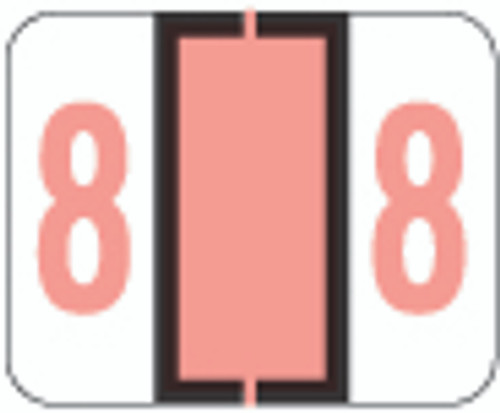 File Doctor Numeric Label - FDNV Series (Rolls) - 8 - Pink
