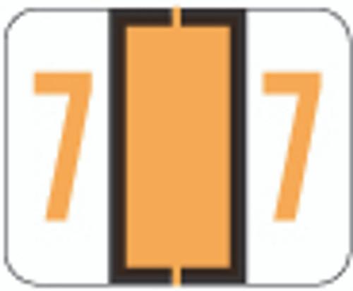 File Doctor Numeric Label - FDNV Series (Rolls) - 7 - Fl. Orange