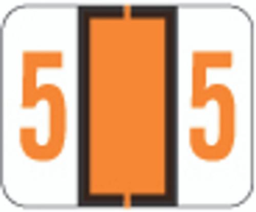 File Doctor Numeric Label - FDNV Series (Rolls) - 5 - Orange