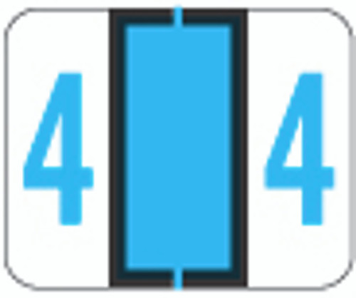 File Doctor Numeric Label - FDNV Series (Rolls) - 4 - Blue