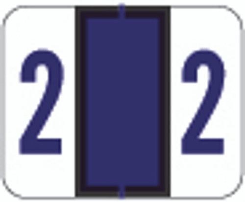File Doctor Numeric Label - FDNV Series (Rolls) - 2 - Purple
