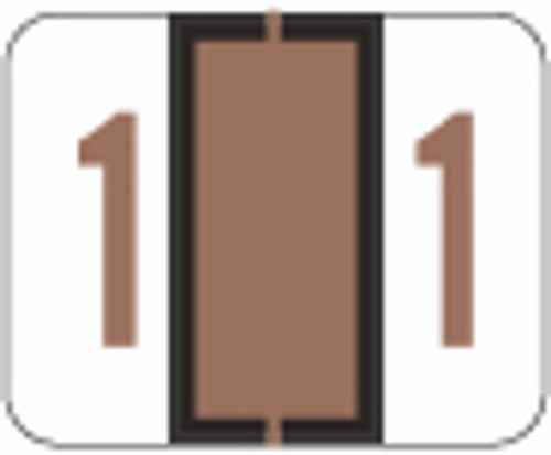 File Doctor Numeric Label - FDNV Series (Rolls) - 1 - Brown