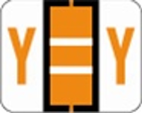 File Doctor Alphabetic Labels - FDAV Series (Rolls) Y- Orange