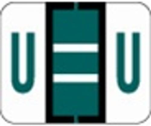 File Doctor Alphabetic Labels - FDAV Series (Rolls) U- Dk. Green