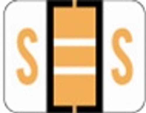 File Doctor Alphabetic Labels - FDAV Series (Rolls) S- Fl. Orange